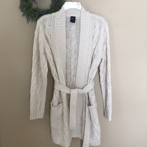 Belted Sweater Jacket